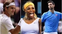 Federer, Serena y Djokovic en el US Open
