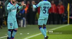 Messi y Ansu Fati