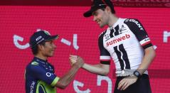 Tom Dumoulin y Nairo Quintana en el Giro de Italia 2017