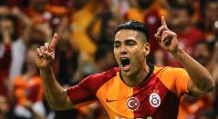 Falcao celebrando un gol con el Galatasaray