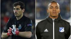 Íker Casillas y Wuilker Faríñez