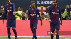 Piqué y Neymar en Barcelona