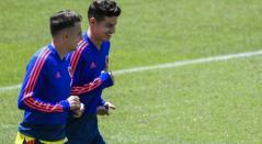 James Rodríguez y Santiago Arias en Selección Colombia