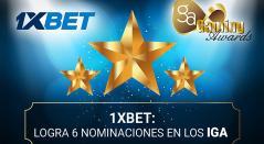 1xBet nominado a los Internacional Gaming Awards