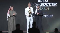 Cristiano Ronaldo gana por sexta vez el premio Globe Soccer