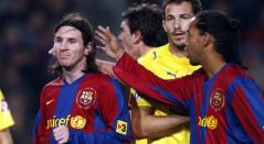 Ronaldinho describió a Lionel Messi.