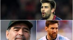 Gerard Piqué, Maradona y Messi