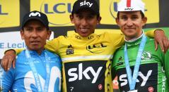 Egan Bernal y Nairo Quintana en París Niza 2019