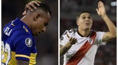 Sebastián Villa y Juan Fernando Quintero, futbolistas colombianos en Argentina