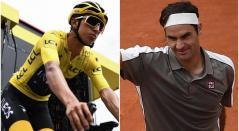 Egan Bernal y Roger Federer