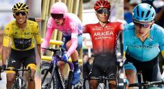 Rigoberto Urán, Superman López, Nairo Quintana, Egan Bernal