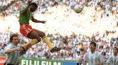 Omam-Biyik, gol ante Argentina - Italia 90