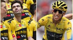 Tom Dumoulin y Egan Bernal