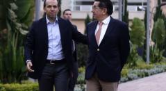 Ernesto Lucena y Fernando Ruíz, ministros del Deporte y de Salud.