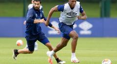 Yerri Mina Everton- regreso entrenamientos