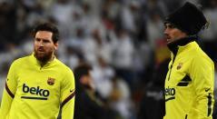 Antoine Griezmann y Lionel Messi
