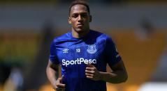 Yerry Mina en Everton