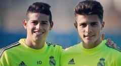 Juan José Narváez y James Rodríguez - Real Madrid