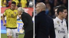 James con Zidane y Pékerman