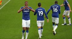 Yerry Mina, James Rodríguez, Everton