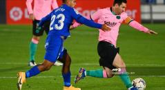 Cucho Hernández y Messi - Getafe vs Barcelona 2020