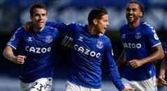 Everton con James Rodríguez en la Premier League