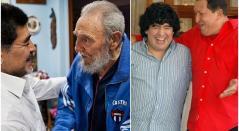 Maradona, Chávez, Fidel Castro