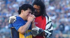 Diego Maradona y René Higuita