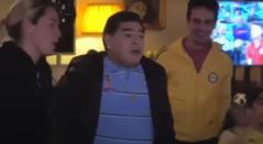 Captura de pantalla, Maradona celebrando gol
