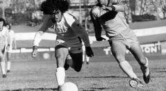 Diego Armando Maradona, cuando jugaba en Argentinos Juniors