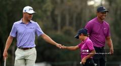 Tiger Woods y su hijo