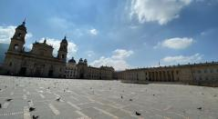 Plaza de Bolívar en nuevo toque de queda en Bogotá