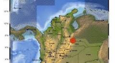 Mapa de temblor en Colombia