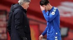 James Rodríguez y Ancelotti - Everton
