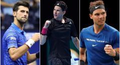 Djokovic, Thiem y Nadal