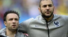Valbuena y Karim Benzema en la selección de Francia