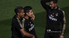 Eden Hazard y James en Real Madrid