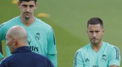 Eden Hazard y Thibaut Courtois - Real Madrid