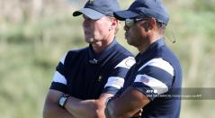 Steve Stricker y Tiger Woods