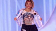 Homenaje de Maradona en Mis Universo