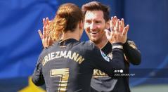 Griezmann y Messi; Barcelona