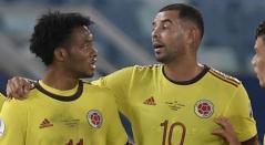 Juan Guillermo Cuadrado y Edwin Cardona - Selección Colombia 2021