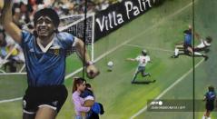 Mural de Diego Maradona en Argentina