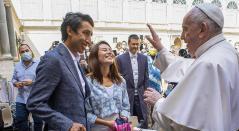 Egan Bernal y el Papa Francisco
