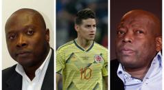 Freddy Rincón, James Rodríguez y Faustino Asprilla