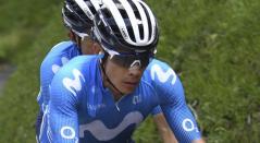 Miguel Ángel 'Supermán'López, ciclista del Movistar