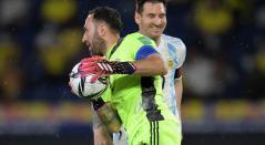 David Ospina y Lionel Messi