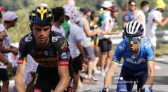 Sepp Kuss y Alejandro Valverde