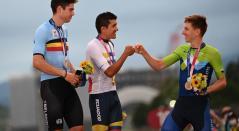 Richard Carapaz, Tadej Pogacar, Wout Van Aert, Juegos Olímpicos Tokio