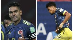 Falcao y Luis Díaz - Selección Colombia